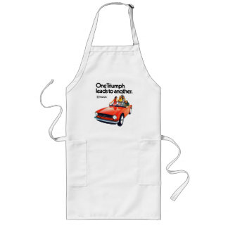 Triumph cars - one triumph leads to another long apron