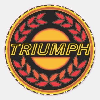 Triumph Cars Wreath Classic Round Sticker
