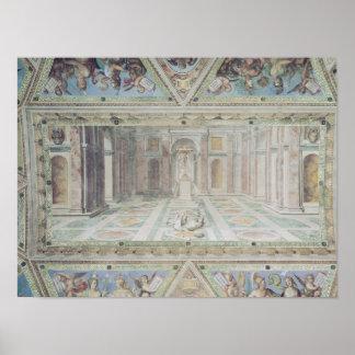 Triumph du christianisme des salles de Raphael Affiches
