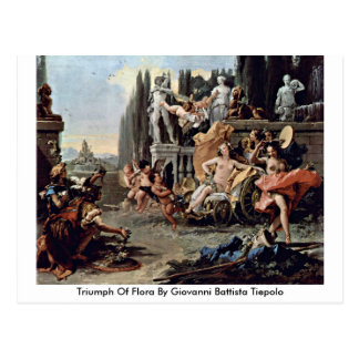 Triumph Of Flora By Giovanni Battista Tiepolo Postcard