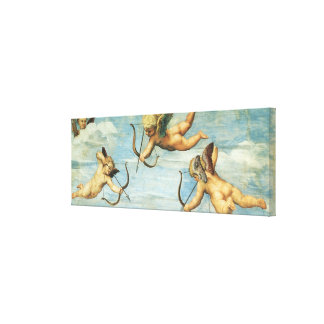 Triumph of Galatea, Angels detail by Raphael Canvas Print