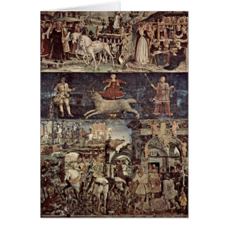 Triumph Of Minerva By Francesco Del Cossa Card