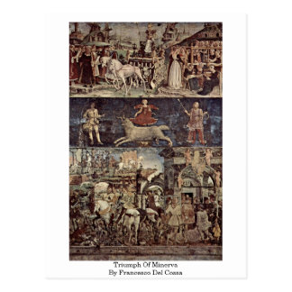 Triumph Of Minerva By Francesco Del Cossa Postcard