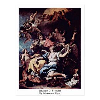 Triumph Of Sciences By Sebastiano Ricci Postcard