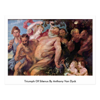 Triumph Of Silenus By Anthony Van Dyck Postcard