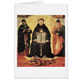 Triumph Of St. Thomas Aquinas By Benozzo Gozzoli Card