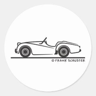 Triumph TR2 Classic Round Sticker
