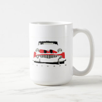 Triumph TR3 vintage roadster in the snow Coffee Mug