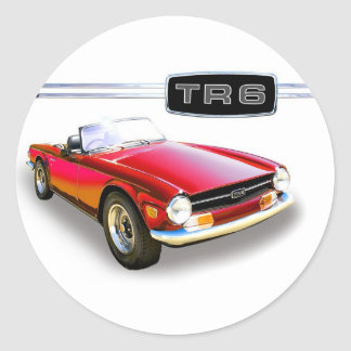 Triumph TR6 Classic Round Sticker