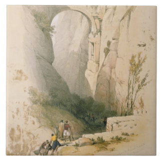 Triumphal Arch crossing the Ravine leading to Petr Ceramic Tile