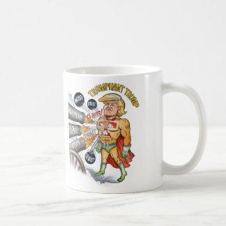 Triumphant Trump Super Hero White Mug