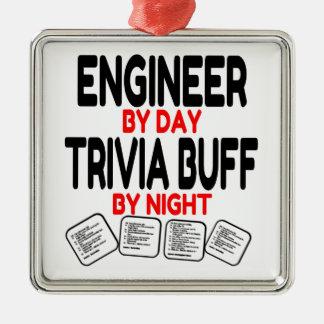 Trivia Buff Engineer Metal Ornament