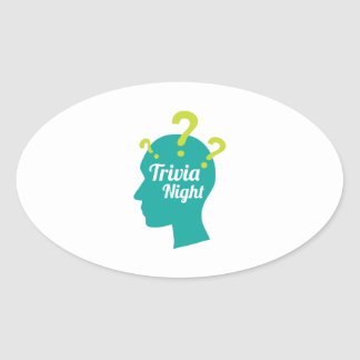 Trivia Night Oval Sticker