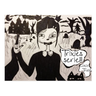 Trixie&Truls vykort Postcard
