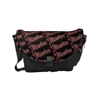Trixster Skateboards Black Messenger Bag