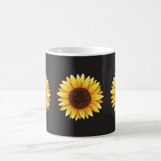 Trois beaux tournesols jaunes mugs à café