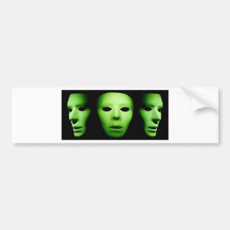 Trois Faces.jpg étrangers verts Autocollant De Voiture