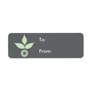Trois feuilles et cercles étiquettes d'adresse retour