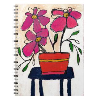 Trois Fleurs Spiral Notebook