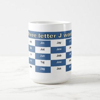 Trois mots de la lettre J pour des mots croisé ou Mugs