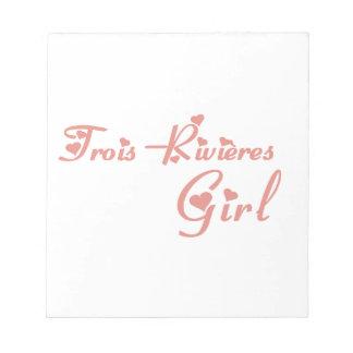 Trois-Rivières Girl Notepad