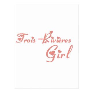 Trois-Rivières Girl Postcard