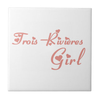 Trois-Rivières Girl Tile