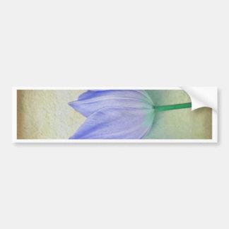 Trois tulipes bleues autocollant de voiture