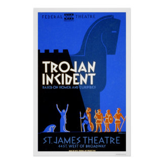 Trojan Incident Homer 1937 WPA Poster