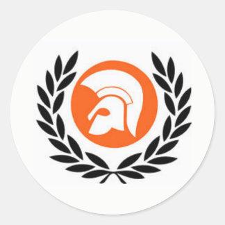 trojan records classic round sticker