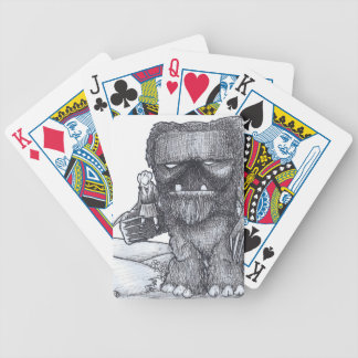 Troll and Companion drawing Poker Deck