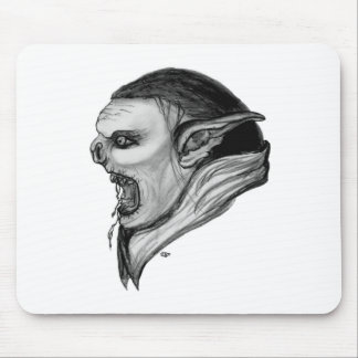 Troll black and white Design Mouse Pad