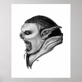 Troll black and white Design Print