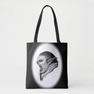 Troll Black and White Design Tote Bag