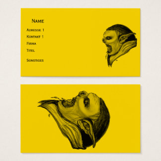 Troll Black and Yellow Design Business Card