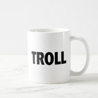 Troll Black Classic White Coffee Mug