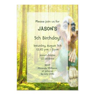 Troll forest birthday party for boys card