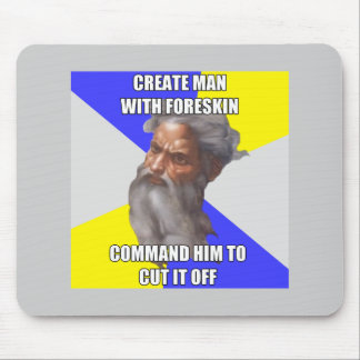 Troll God Circumcision Mouse Pad