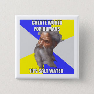 Troll God Saltwater 2 Inch Square Button