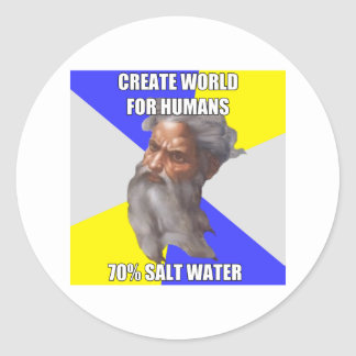 Troll God Saltwater Classic Round Sticker