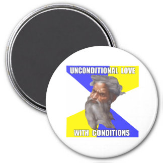 Troll God Unconditional Love 3 Inch Round Magnet