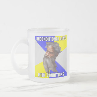 Troll God Unconditional Love Frosted Glass Mug