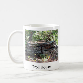 Troll House Classic White Coffee Mug