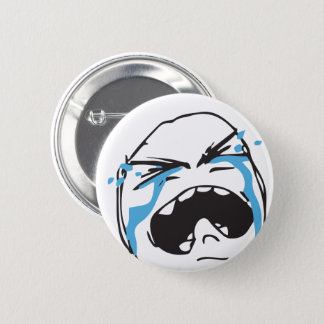 Troll Le Me Memes cryin Editable CHOOSE YOUR COLOR 2 Inch Round Button