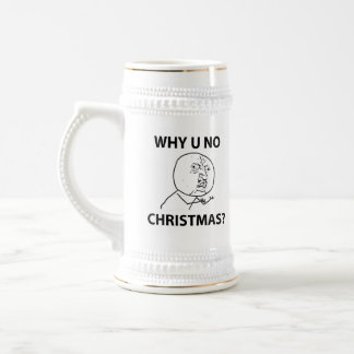Troll LeMe Memes troll WHY YOU NO CHRISTMAS Beer Stein