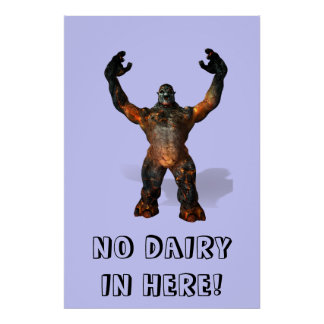 troll, NO DAIRY IN HERE! Posters