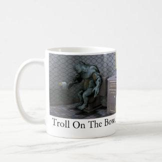 Troll On The Bowl Classic White Coffee Mug