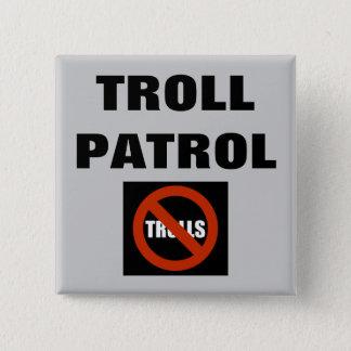 Troll Patrol 2 Inch Square Button