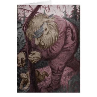 Troll Tearing Down Tree Card