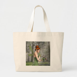 Troll Tells a Tall Tale Large Tote Bag